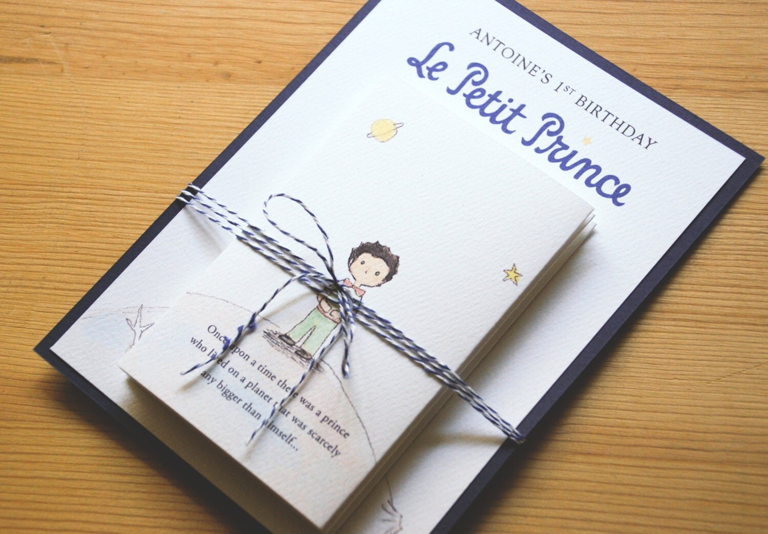 Reserved Listing for GINA – Little Prince Birthday Invitations
