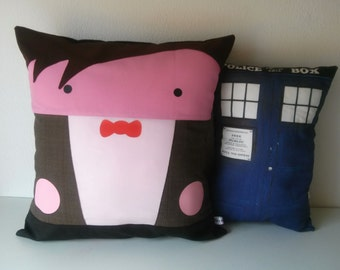 Doctor Who Matt Smith & Tardis DUO  inspired CushionS
