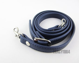 118cm long Navy Blue Color Synthetic Leather Purse Strap