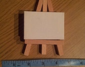 CUSTOM 5x7cm Mini Acrylic Painting on Canvas with Wooden Easel