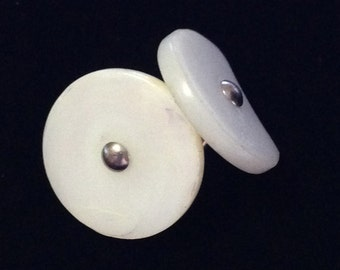 Vintage 1930's Mother of Pearl Cuff Links Set (JT3)