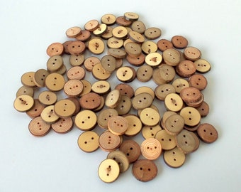 Wood Buttons - Branch Buttons - 50 Buttons - 5 Kind Tree Branch Buttons - 1 1/5  -  1 2/5 inches in diameter
