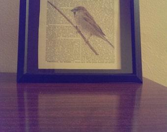 Antique Dictionary Art Print (Sparrow)