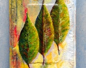 """original oil painting, titled """"Beginning to fall""""  5"""" x 7"""""""