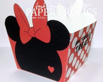 Minnie Mouse Red Gift Basket Box, Printable, Digital, DIY, Instant Download