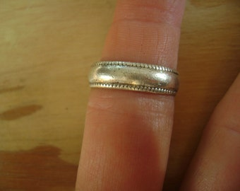 old sterling band, size 7
