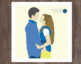 Boy Meets World - Cory & Topanga 8 x 8 Giclee Print