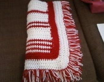 Crochet afghan  Stroller Blanket, Bassinet Blanket, Baby Nursery Blanket  lot  90