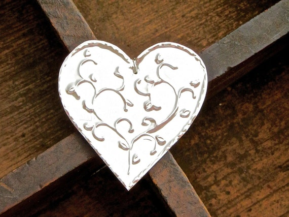 Metal heart ornaments hanging decorations by foilingstar