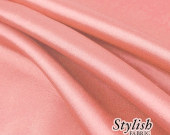 """60"""" Coral Charmeuse Satin Fabric by the Yard, Charmeuse Fabrics, Charmeuse Satin, Bridal Wedding Satin Fabric- 1 Yard Style 2800"""
