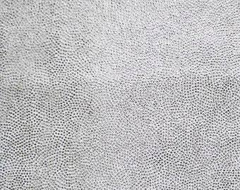 Swimwear Fabric White / Silver Fog Foil Tricot Knit Fabric for Swimwear Activewear Dancewear and Sportswear - 1 Yard Style 7002