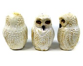 Snowy Owl Light Pull, Cord Pull Novelty Animal Hand Crafted Original Toggle by Zoo Ceramics