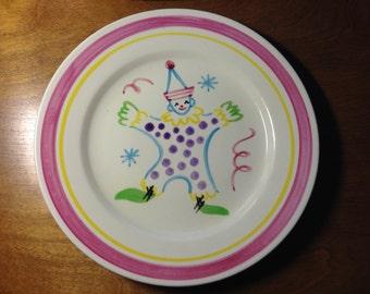 Stangl Kiddieware Circus Clown Plate