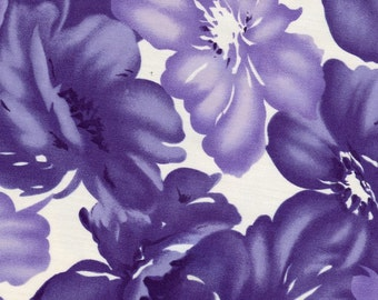 Purple Flower Fabric - 1 Yard