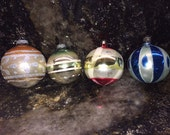 Vintage 1960's - 1970's Christmas Ornaments - Shiny Brite - Poland