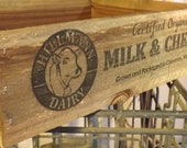 Personalized Milk & Cheese Crate, rustic, farm, vintage inspired, home decor, wedding, gift, advertising crate