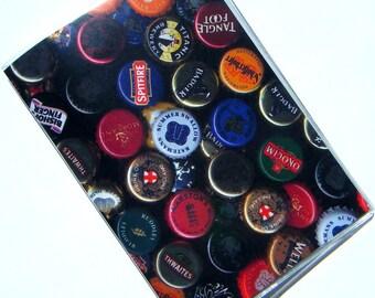 Beer Bottlecaps Passport Holder Cover Case