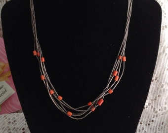 Vintage Sterling Liquid Sterling and Coral Accents
