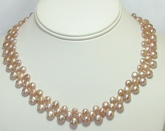 Pretty in Pink 3-layer Pearl Choker