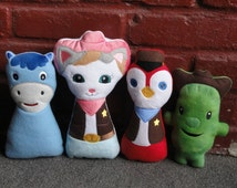 Sheriff Callie Cat and friends Wild West Inspired Stuffed Doll Set- Large