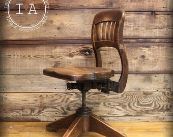 Antique Adjustable Steampunk Bankers Swivel Chair