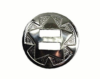 Star Conchos Nickel Plated 100 Pack