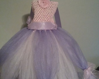 Pink and Purple Tutu Dress