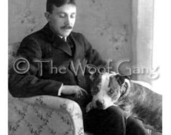 Vintage Dog Card--Gentleman and Best Friend