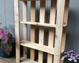 Pallet Art Style - Solid Cedar - Wall Hanging Shelves - Great Storage - Stained any color to match any decor!!