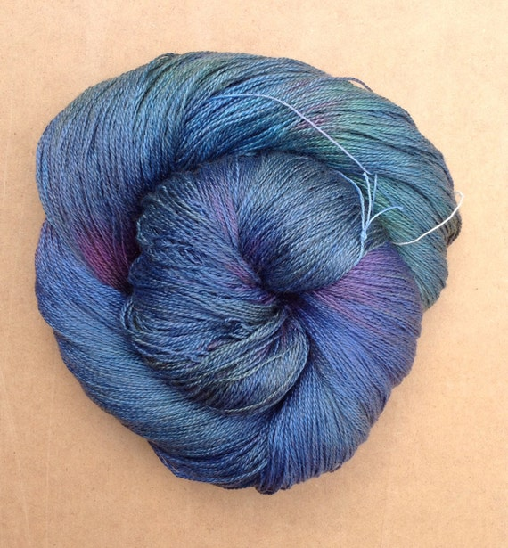 Lace Weight Yarn : Silk Lace weight yarn, Hand Dyed Spun Silk Yarn, 2ply Knitting Yarn ...