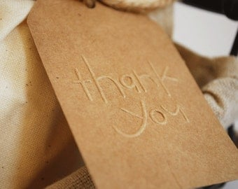Thank You Embossed Gift Tags