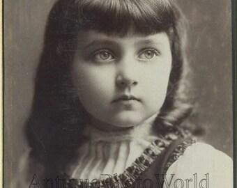 Beautiful girl antique art cabinet photo portrait