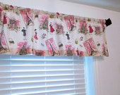 Waverly Tres Chic French  Curtain Rod Pocket  Window Valance HANDMADE in the USA - OldStation