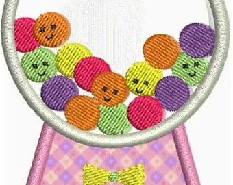 Machine Embroidery Design Candy Land Gumball Machine