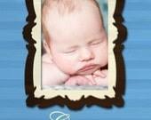 Framed Birth Announcement, 5x7, DIY Printing