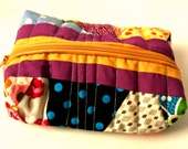 Handmade Scrappy Boxed Zippered Pouch