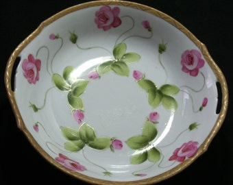 Imperial China Hand Painted Nippon Roses Bowl