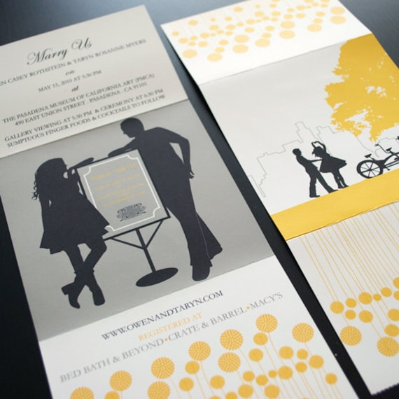 Items Similar To Our Love Story Wedding Invitation, Send N