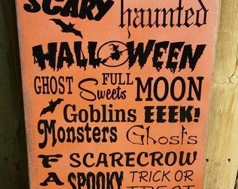 Halloween/Fall -  Primitve Wood Sign