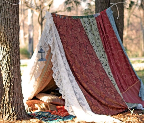 Like this item? & Boho meditation vintage Gypsy patchwork lace tent bed canopy