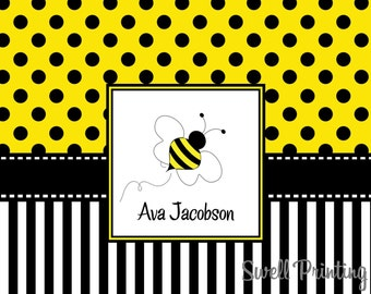 10 Personalized Bumble Bee Note cards Bee Note cards by Swell Printing