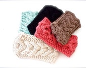 Grab Bag Headband Cable Knitted Headband Ear Warmer Fashion Accessory- Gifts For Her- Women's Fashion Hair Accessories