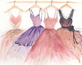 Water Color Fashion Illustration Bridal Art Giclee Print