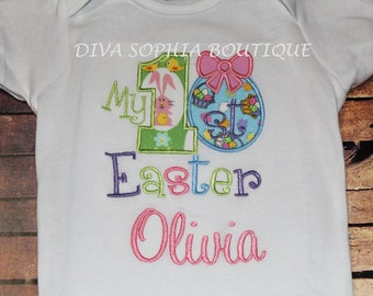 Personalized My First Easter Bodysuit