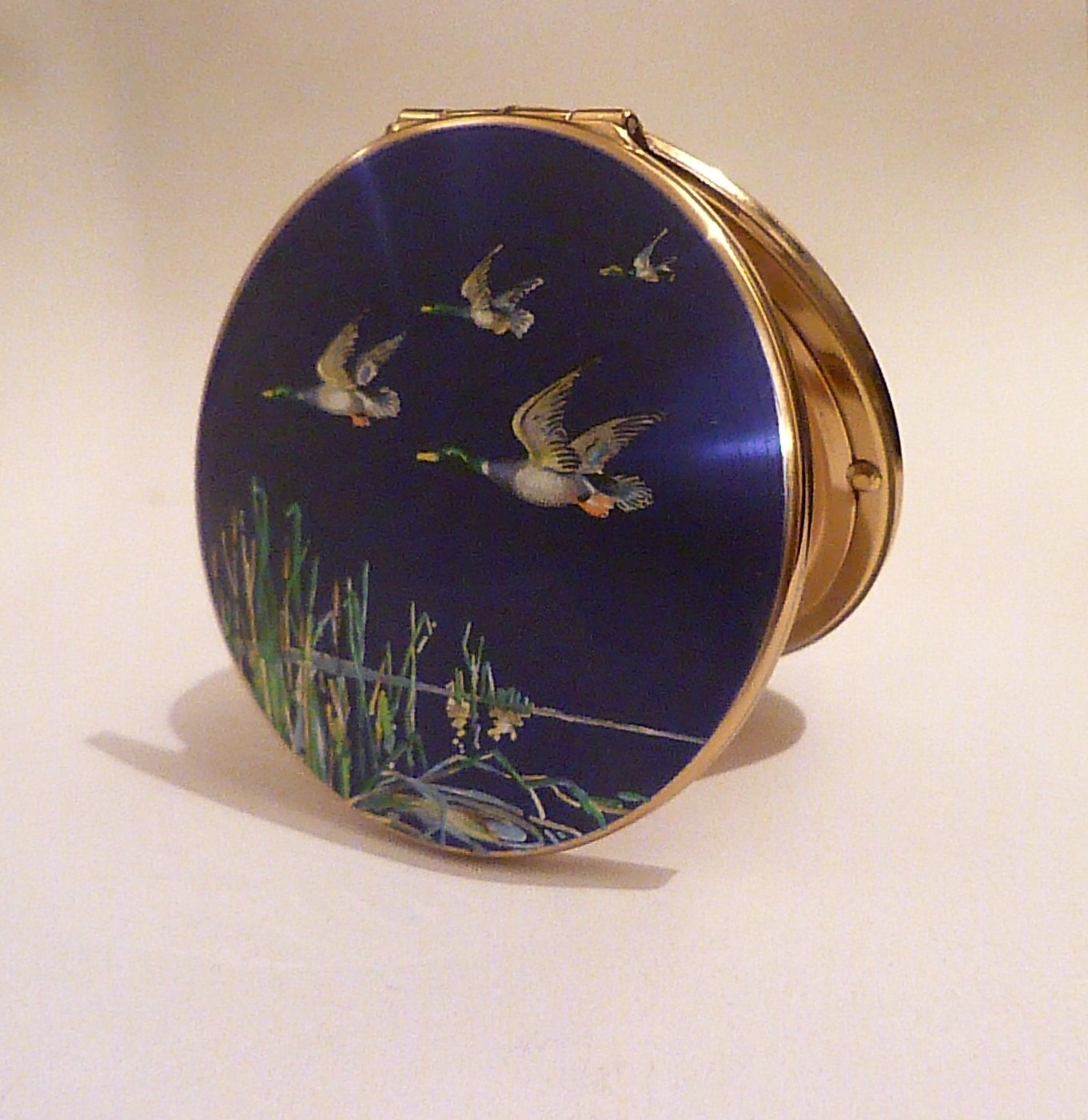 Vintage compact Stratton compacts something blue gifts