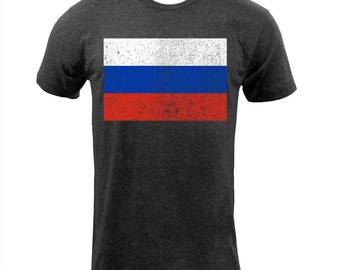 Flag of Russia - Tri Black