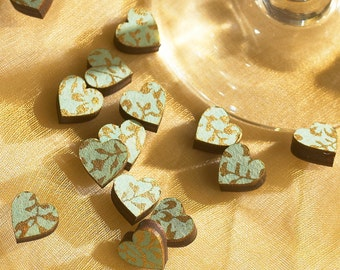 Vintage Papered Wedding Favour Hearts For Table Scatter Decorations