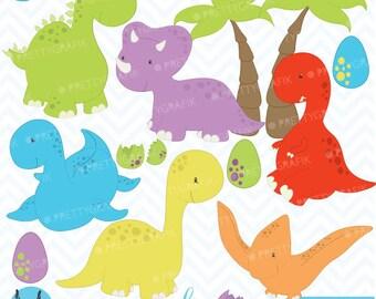 dinosaur clipart commercial use, vector graphics, digital clip art, digital images  - CL452