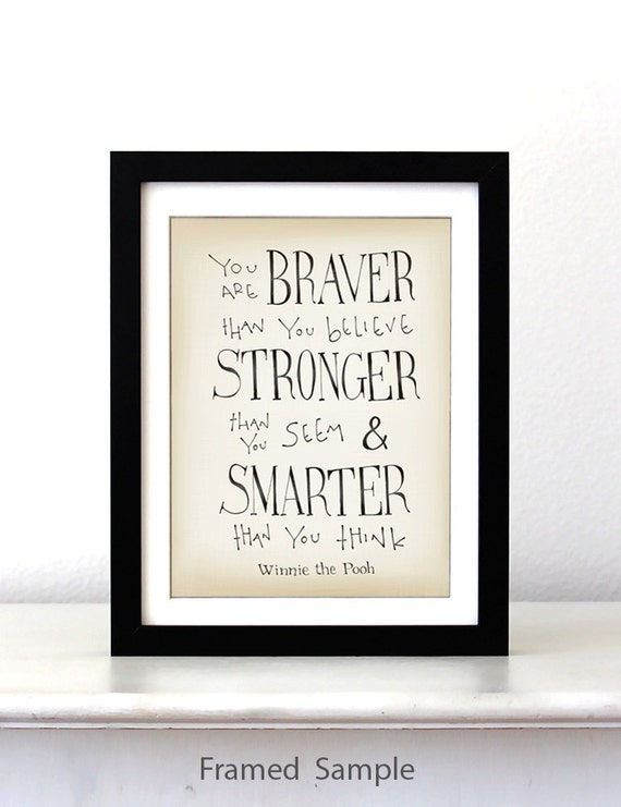 You Are Braver Winnie The Pooh Disney Movie By Simpleserene