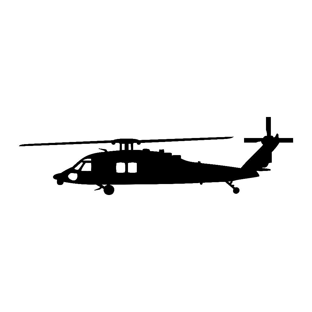 Stars Stickers For Walls Sikorsky Blackhawk Helicopter Vinyl Decal V1